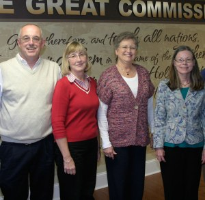 B&R staff, from left, Lonnie Wilkey, Mary Nimmo, Susie Edwards, and Connie Bushey