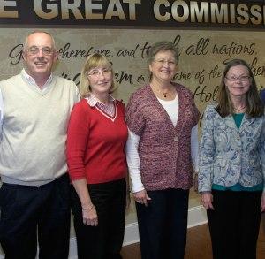 B&R staff, from left, Lonnie Wilkey, Mary Nimmo, Susie Edwards, and Connie Bushey